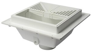 Sioux Chief SquareMax™ 3 in. Hub Schedule 40 PVC Square Floor Sink Grate in White S8613PW