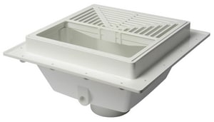 Sioux Chief SquareMax™ 11-3/16 x 11-3/16 x 6-3/8 x 3 in. Hub Plastic Square Floor Sink with PVC Strainer S8613PD3