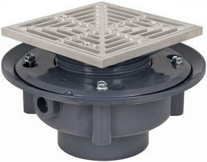 Sioux Chief 863 Series 3 in. Flashing Drain with Ring and Strainer S863435SQ