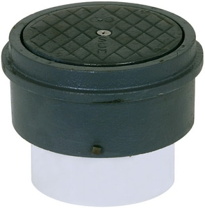Sioux Chief 851 Series 3 in. Adjustable PVC Clean-Out Solvent Weld Connection with Cover in Tenzalloy S85143T