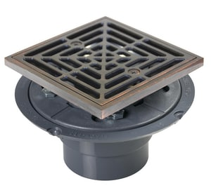 Sioux Chief 821 Series 2 in. Inside Caulk Plastic Stainless Steel Shower Drain S821200PPK