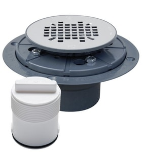Sioux Chief 821 Series 2 in. Inside Caulk Plastic Stainless Steel Shower Drain S821T270A