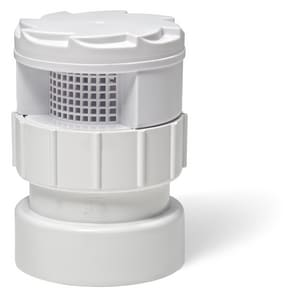 Sioux Chief TurboVent™ 250 Series 1-1/2 - 2 in. 160 dfu PVC Air Vent in White S250122PB