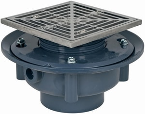Sioux Chief 863 Series 2 in. FIP PVC Stainless Steel Floor Drain with 6 in. Square Ring and Strainer S86342SQ