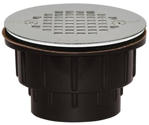 Sioux Chief 825 Series 2 in. Push On Plastic White Shower Drain S82527P