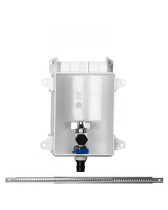 Sioux Chief OxBox™ Ox Box Ice Maker Outlet Box Without Water Hammer Arrestor and 1/2 in. PEX Expansion Connection in White S696G1000WF