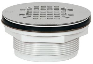 Sioux Chief 828 Series 2 in. Threaded Plastic Stainless Steel Shower Drain S8282