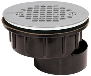 Sioux Chief 825 Series 2 in. Push On Plastic White Shower Drain S8252A