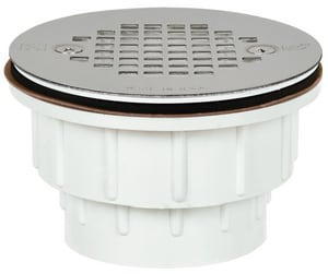 Sioux Chief 825 Series 2 in. Push On Plastic White Shower Drain S82520A