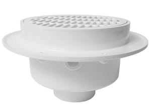 Sioux Chief FatMax™ 4 in. PVC Round Floor Sink and Ring and Strainer in White S860W4PN