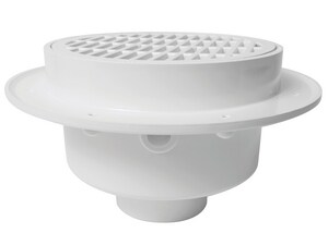 Sioux Chief FatMax™ Plastic 3 in. Floor Sink in White with 1/2 in. PVC Strainer S860W3P2