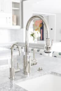 Waterstone Parche 1.1 gpm 1 Hole Deck Mount Hot Water Dispenser with Single Lever Handle in Satin Nickel W1400HSN