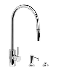 Waterstone 1.75 gpm 3-Hole Extended Reach Pull-Down Kitchen Sink Faucet with Single-Handle in Stainless Steel W53003SS