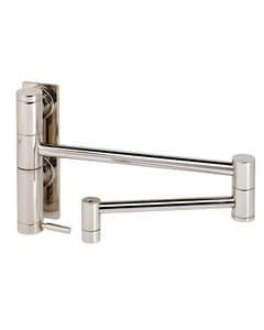 Waterstone Contemporary Single Handle Lever Handle Pot Filler in Satin Brass W3200SB