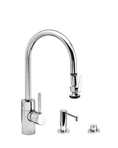 Waterstone Pull-Down Faucet with Single Lever Handle in Polished Chrome W58003CH