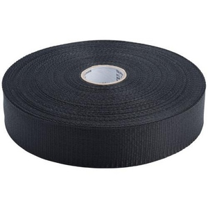 PROSELECT® 3 in. x 100 yd. Polypropylene Woven Duct Strap in Black PSDSBM