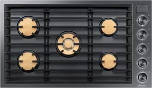 Dacor Modernist 36 in. 5-Burner Natural Gas Sealed Cooktop in Graphite Steel DDTG36M955FM