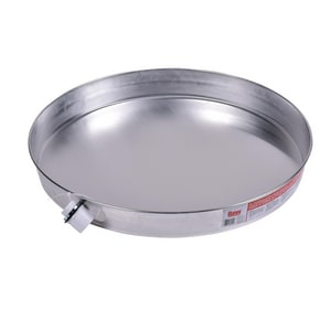 Oatey 20 in. Aluminum Water Heater Pan with 1-Fitting O3415
