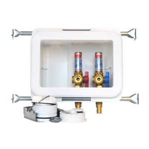 Oatey 10-1/10 in x 8-9/25 in x 3-23/25 in Washing Machine F1960 PEX Supply Box O38481