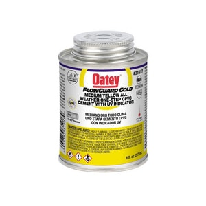 Oatey FlowGuard Gold® 8 oz Fast Set Plastic Yellow Pipe Cement O31917