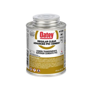 Oatey 8 oz Regular Set Plastic Clear Pipe Cement O3192