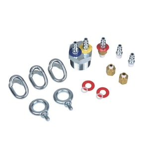 Cherne Hi-Flow™ 1-1/2 in. MNPT Straight Plastic Plug Conversion Kit with Quick Disconnect Fitting C028598