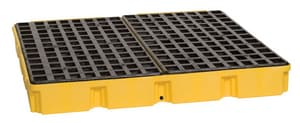 Eagle 10000 lbs. Drum Modular Platform with Drain in Yellow E1635D
