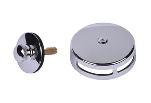 Dearborn Brass Brass Lift & Turn Drain in Polished Chrome DEAK22