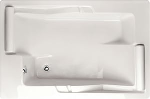 Hydro Systems Ashley 72 x 48 in. Soaker Drop-In Bathtub with End Drain in Biscuit HASH7248ATOBIS