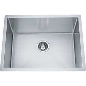 Franke Professional Series 25 x 19 in. 1-Bowl Undermount Kitchen Sink in Stainless Steel FLRX1102312316