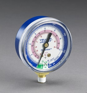 Yellow Jacket 2-1/2 in. R410A Compound Gauge in Blue R49036