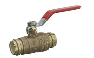 Sioux Chief 648 Series 1-1/4 in. Brass Full Port CPVC Socket 600# Ball Valve S648CG5FP