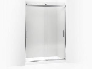 KOHLER Levity® 59-5/8 in. Sliding Shower Door with Clear, CleanCoat® and Tempered Glass in Bright Polished Silver K706383-L-SHP