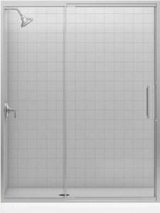 KOHLER Lattis® Pivot Shower Door in Bright Silver K705841-L-SH