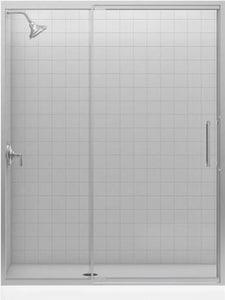 KOHLER Lattis® Door Glass Only in Bright Silver K705842-L