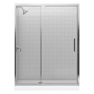 KOHLER Lattis® Glass for Kohler Pivot Shower Door in Bright Silver K705840-L-SH