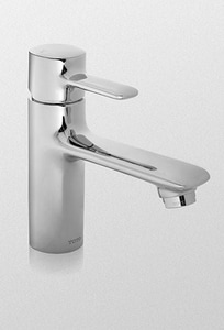 TOTO Aquia® 1-Hole Deckmount Bathroom Faucet with Single Lever Handle in Polished Chrome TTL416SDCP