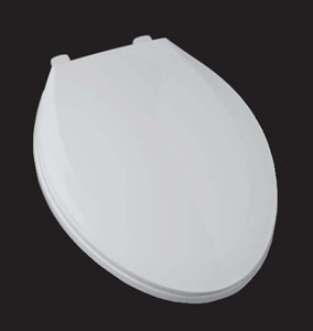 PROFLO® Tizer Elongated Closed Front Toilet Seat with Cover in Biscuit PFTSE2000BS