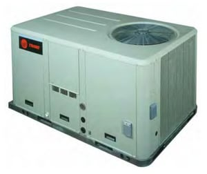 Trane Precedent™ 5 Tons 230V Three Phase Standard Efficiency Convertible Packaged Gas or Electric Unit TYSC060E3RHA09Y1