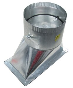 Elgen Manufacturing 10 in. Duct Round Takeoff Galvanized Steel in Round Duct ESF1085