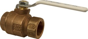 Apollo Conbraco 77CLF-A Series 1/2 in. Bronze Full Port Solder 2 piece Ball Valve with RPTFE Seat A77CLF2027A