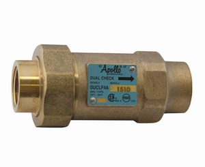 Apollo Conbraco 4ALF-300 Series 1 in. Bronze and Stainless Steel Male Meter x FIP Dual Check Valve A4ALF3C55B