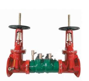 Apollo Conbraco DC4SGLF 4 in. Epoxy Coated Ductile Iron Flanged 175 psi Backflow Preventer A4SGLF10A02