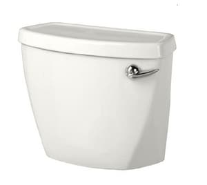 American Standard Cadet® Pro™ 17-3/8 in. 2-Piece 1.6 gpf Elongated Toilet Tank in White and Polished Chrome with Right-Hand Trip Lever A4188A005M048020