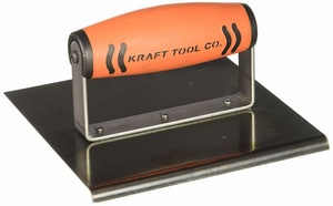 Kraft Tool Company 6 x 6 in. Steel Edger with 1/4 in. Radius and ProForm Soft Grip Handle KCF575PF