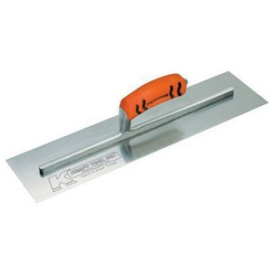 Kraft Tool Company 3-5/8 x 14 x 4 in. Carbon Steel Cement Trowel with ProForm Soft Grip Handle KCF217PF