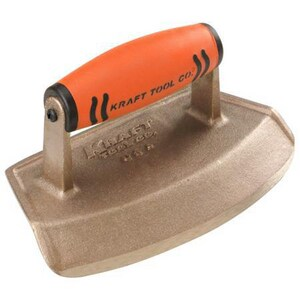 Kraft Tool Company 7 x 4 x 12 in. Chamfer Tube Bronze Edger with ProForm Soft Grip Handle KCF382PF
