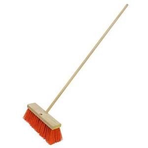Kraft Tool Company 3-1/2 in. Sweeping Broom with Handle in Orange KCC197