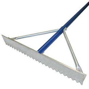 Kraft Tool Company 30 in. Magnesium Rake with Blue Handle KGG625