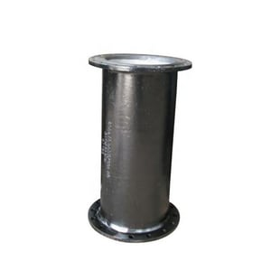 Custom Fab 6-3/5 ft. Bituminous Tar Coated Flanged Ductile Iron Pipe FFPXU6